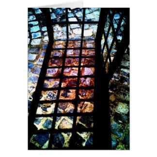 Matriz do miradouro cartão comemorativo