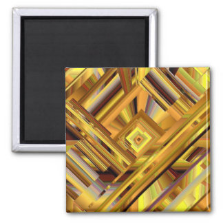 Matriz do ouro ímã quadrado
