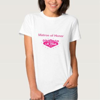 MATRONA do ROSA QUENTE do casamento da HONRA em T-shirts