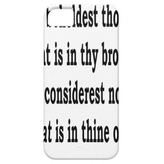 Matt. 7:3, w capa barely there para iPhone 5