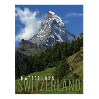 matterhorn na suiça cartão postal