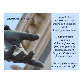 Matthew 11 28 cartão de memória de 30 escrituras