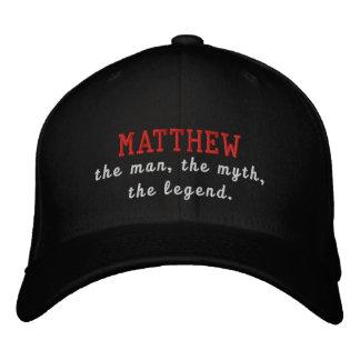Matthew o homem, o mito, a legenda boné bordado