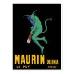 Maurin Quina - Cappiello 1906 - o absinto Apertif Cartao Postal