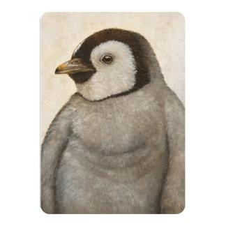 Máximo o cartão liso do pinguim
