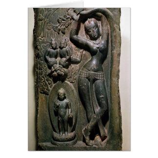 Maya da rainha que dá o nascimento ao Buddha Cartão Comemorativo