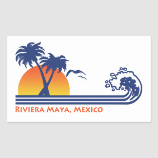 Maya México de Riviera Adesivo Retangular
