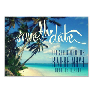 Maya tropical de Riviera da praia, economias de Convite 12.7 X 17.78cm