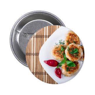 meatballs fritados da galinha triturada bóton redondo 5.08cm