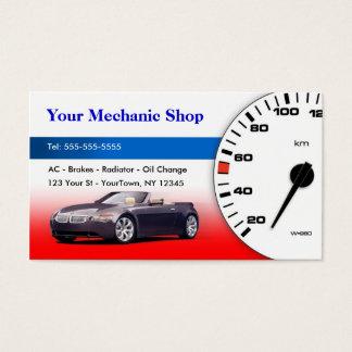 Mecânico/auto cartão de visita do corpo