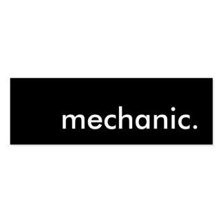 mecânico cartoes de visita