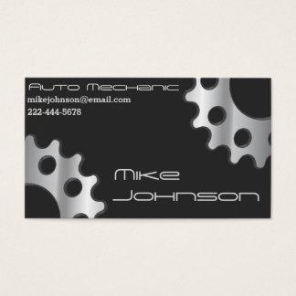Mecânico & cartões de visitas dos comércios