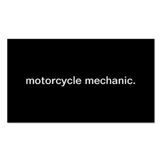 Mecânico da motocicleta modelos cartoes de visitas