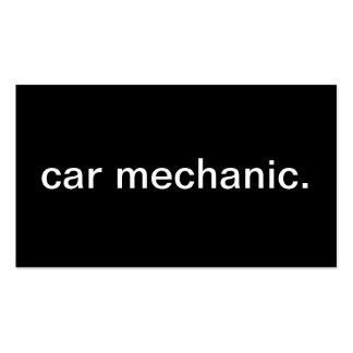Mecânico de carro cartoes de visita