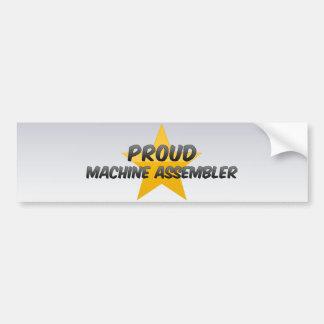 Mecânico de máquina orgulhoso adesivos