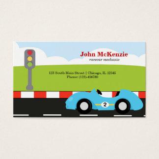 Mecânico de Racecar Cartão De Visitas