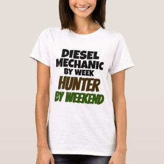 Mecânico diesel pelo caçador da semana em o fim de camiseta