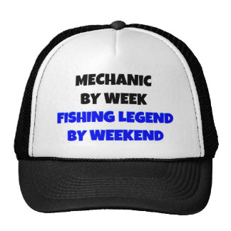 Mecânico pela legenda da pesca da semana em o fim  bonés