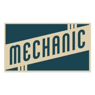 mecânico retro modelos cartão de visita