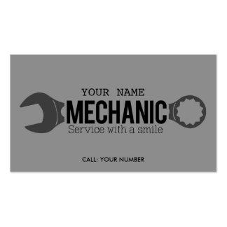 Mecânico - serviço com um sorriso cartão de visita