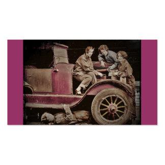 mecânicos da menina dos anos 20 auto cartão de visita