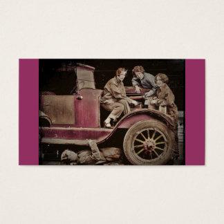 mecânicos da menina dos anos 20 auto cartão de visitas