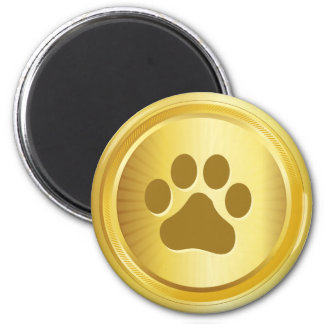 Medalha de ouro do vencedor da exposição de cães imã