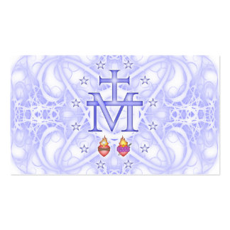 Medalhão miraculoso cartão de visita