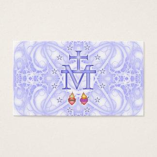 Medalhão miraculoso cartão de visitas