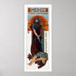 Medee (Medea) - Mucha - anúncio do teatro de Nouve Posters