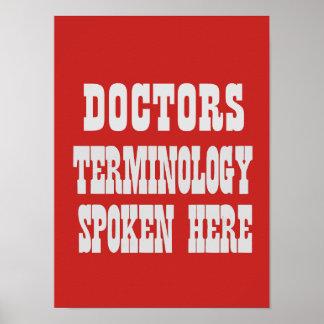 Medica o poster da terminologia
