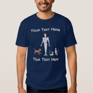 Medicina veterinária geométrica feita sob camisetas