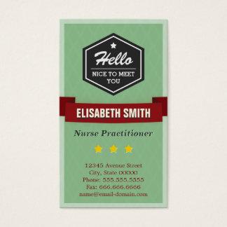 Médico da enfermeira - na moda retro do vintage cartão de visitas