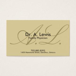 Médico e cartão de visita médico - monograma