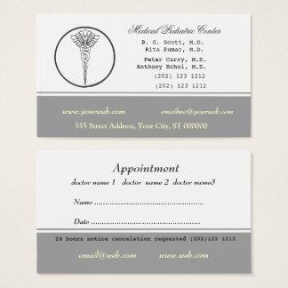Médico nomeação da cor neutra pálida cartão de visitas