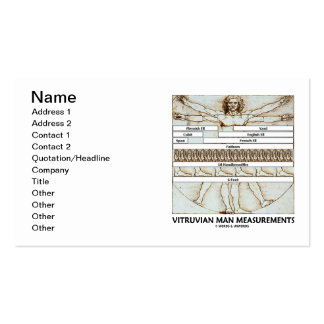 Medidas do homem de Vitruvian (da Vinci) Cartão De Visita