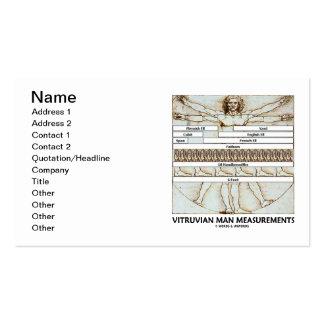 Medidas do homem de Vitruvian (da Vinci) Cartoes De Visitas