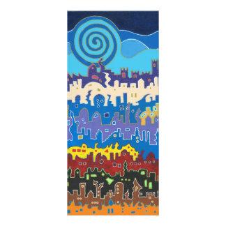 Medina de Fez - cartão longo 10.16 X 22.86cm Panfleto