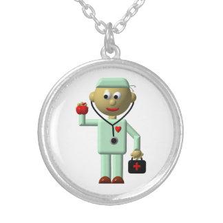 Medique w/Apple, estetoscópio, colar médica do sac