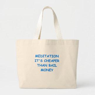 meditação bolsas para compras