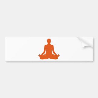 Meditação da ioga adesivo para carro