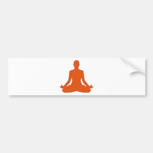 Meditação da ioga adesivo