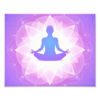 Meditação da ioga impressão de foto