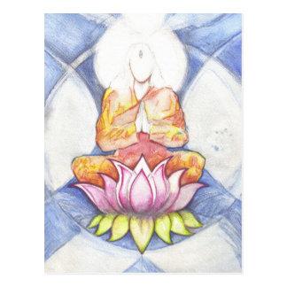 Meditação Lotus Cartão Postal