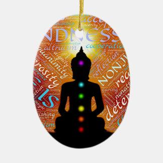 Meditação Ornamento De Cerâmica