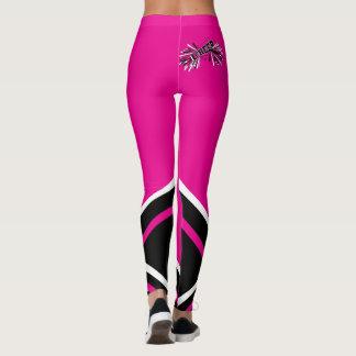 Megafone quente do rosa, o branco e o preto do leggings