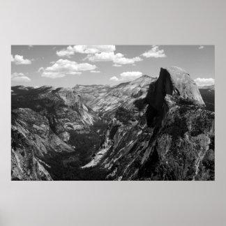 Meia abóbada, parque nacional de Yosemite Pôster