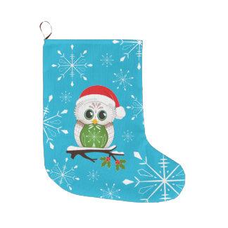 Meia da coruja do Natal Meia De Natal Grande