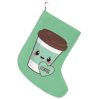 Meia De Natal Grande Amante de Emoji do café