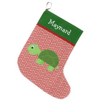 Meia De Natal Grande Animal de estimação da tartaruga personalizado
